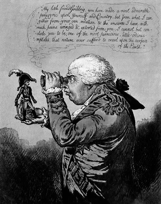 Дж. Гилрей. Наполеон на ладони короля Георга III