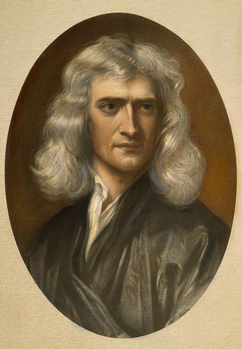Исаак Ньютон, портрет кисти Г. Кнеллера (1689 г.)